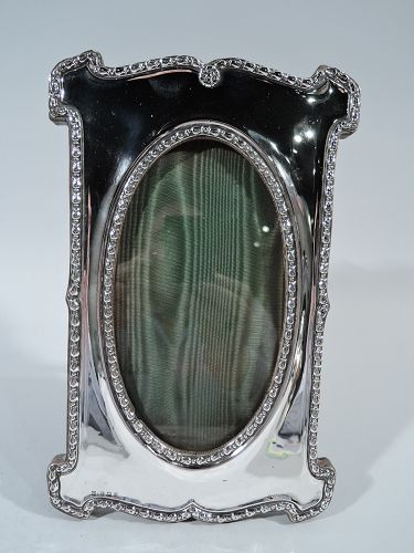 English Edwardian Sterling Silver Picture Frame