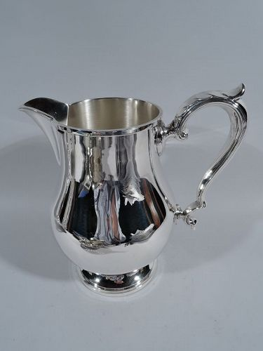 Fisher Sterling Silver Water Pitcher in Early Georgian Pattern