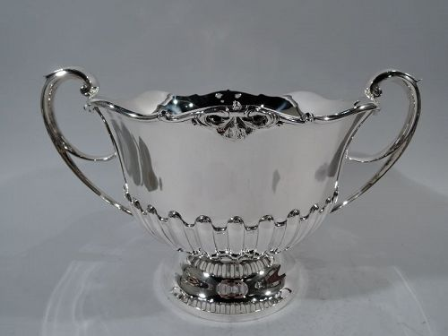 English Edwardian Sterling Silver Centerpiece Trophy Bowl
