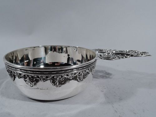 Fancy Classical Sterling Silver Porringer by Whiting C 1890