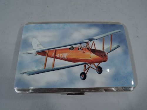 Postwar Aviation Nostalgia � English Sterling Silver and Enamel Case