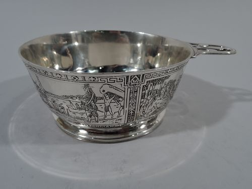 Blackinton Novelty Porringer with Native American Motif