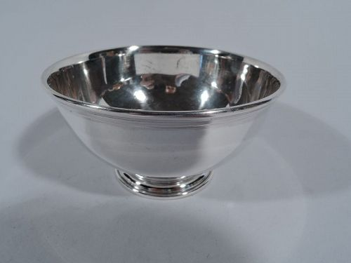 Traditional English Sterling Silver Bowl by James Robinson