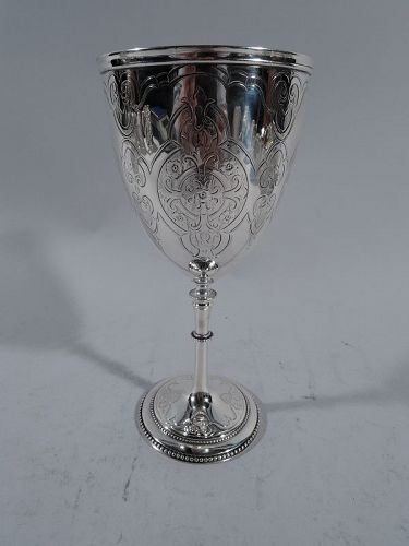 Antique English Sterling Silver Ecclesiastical Gothic Goblet
