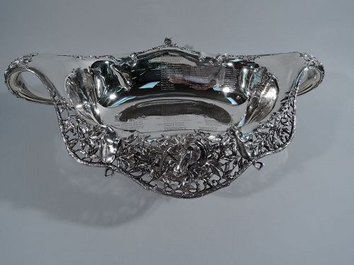 Wonderful and Historic Sterling Silver Horse Racing Trophy Bowl