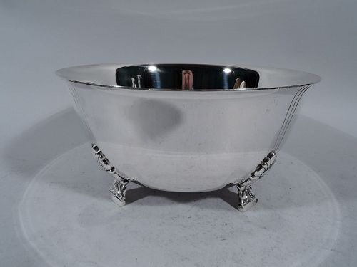 American Modern Classic � Tiffany Palmette Sterling Silver Bowl