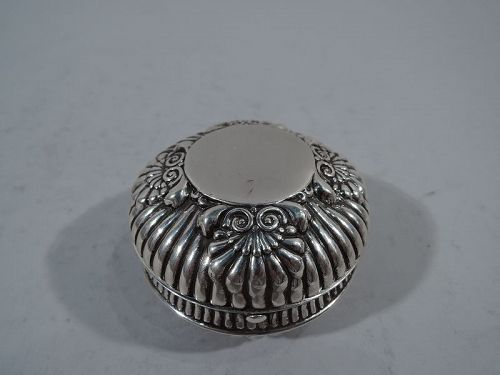 Antique Gorham Sterling Silver Portable Inkwell