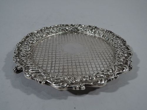Baltimore Repousse Sterling Silver Salver Tray by Kirk