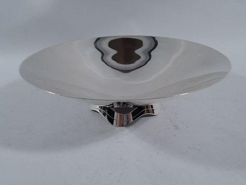 Tiffany Midcentury Modern Sterling Silver Ribbon Bowl