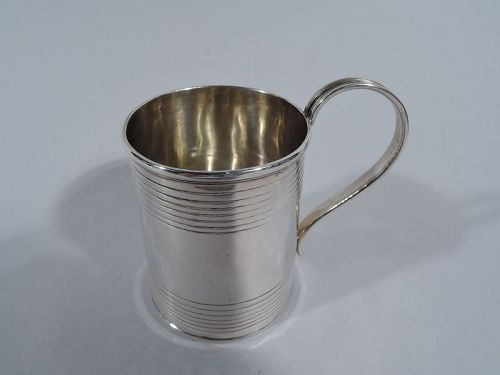 Irish Regency Sterling Silver Tankard Baby Cup by Dublin Maker 1828