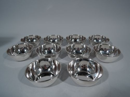 Set of 14 Gorham Sterling Silver Dessert Bowls