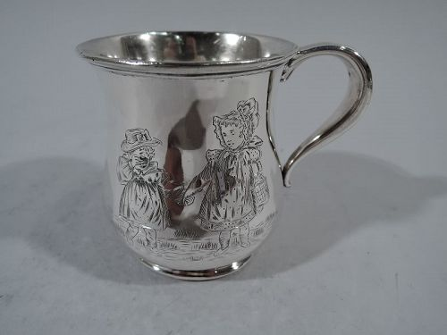 Antique American Sterling Silver Friendship Baby Cup