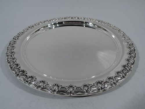 Antique Tiffany Sterling Silver Shell and Scroll Tray