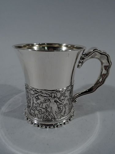 Antique Gorham Sterling Silver Troubadour Baby Cup