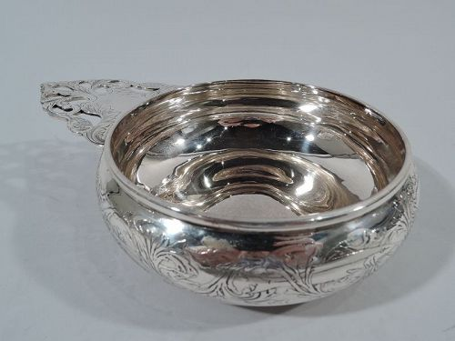 Antique Tiffany Sterling Silver Seahorse Porringer