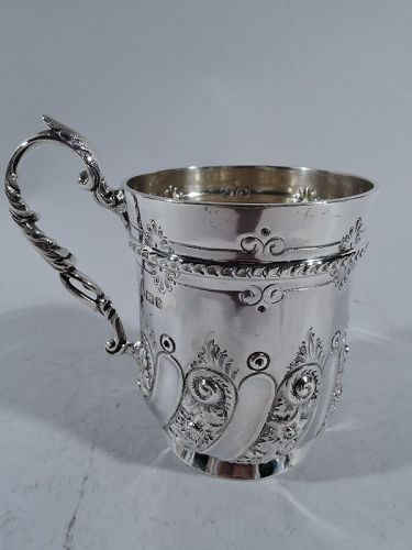 Antique English Sterling Silver Baby Cup by Martin, Hall 1895