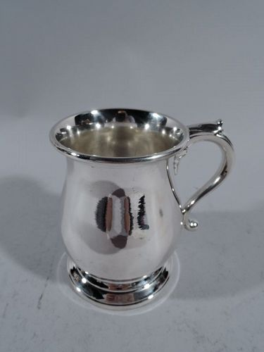 American Sterling Silver Footed Baby Cup After Lamerie