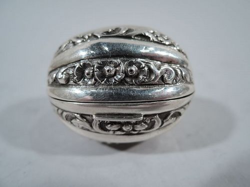 Antique English Sterling Silver Nutmeg Grater 1853