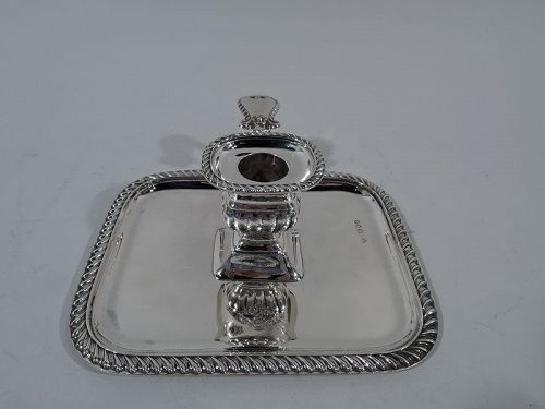 Antique English Georgian Sterling Silver Chamberstick 1894