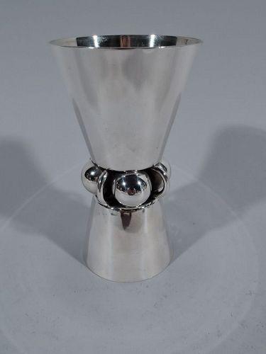 Midcentury Modern Sterling Silver Jensen-Style Jigger by La Paglia