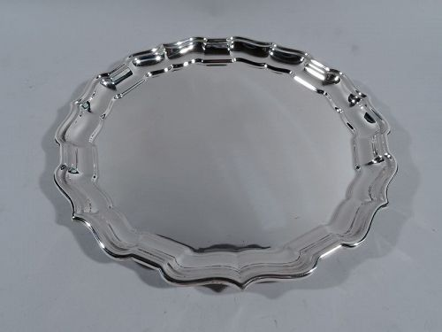 Cartier Sterling Silver Tray in Georgian Chippendale Pattern