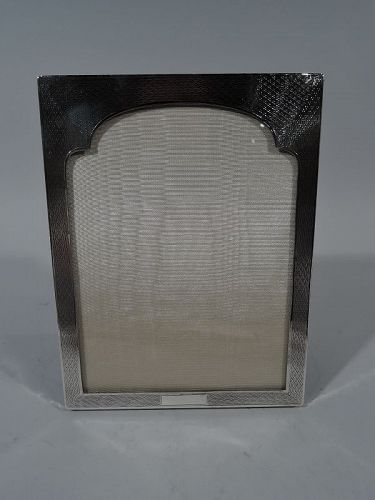 English Art Deco Exotic Moresque Sterling Silver Picture Frame