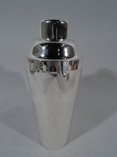 American Prohibition-Era Sterling Silver Cocktail Shaker by Kirk