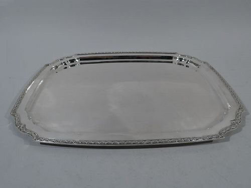Antique Tiffany Large and Heavy Sterling Silver Serving Tray C 1922
