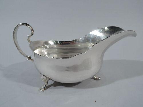 English Georgian Sterling Silver Gravy Boat 1770