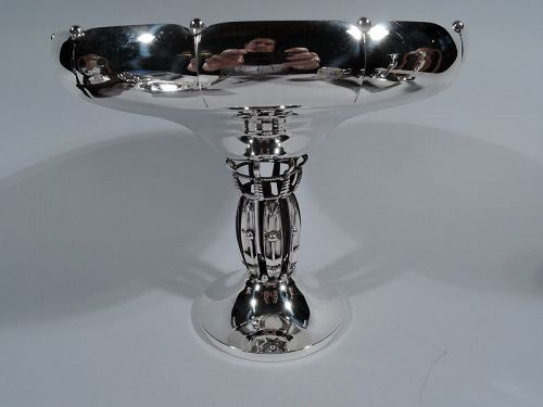 American Midcentury Modern Jensen Style Sterling Silver Compote