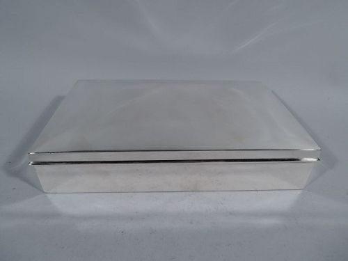 Large American Modern Sterling Silver Desk Box