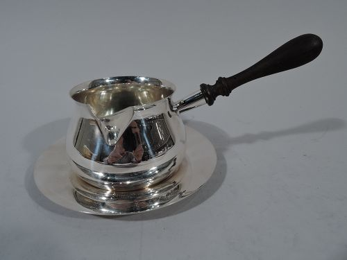 English Georgian Sterling Silver Pipkin on Stand by Tuttle 1953