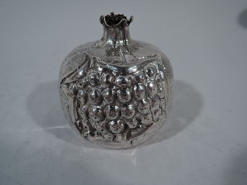 A Ripe Pomegranate - Italian Silver Fruit-Form Cigar Lighter