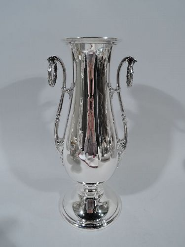 Antique Gorham Tall & Classical Sterling Silver Trophy Vase