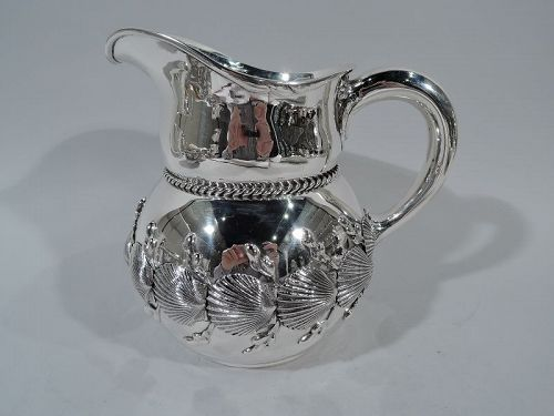 Wonderful Theodore B Starr Sterling Silver Seashell Water Pitcher