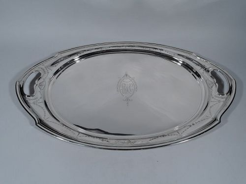 Antique American Edwardian Sterling Silver Tea Tray