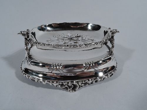 Antique Gorham Sterling Silver Soap Dish on Stand
