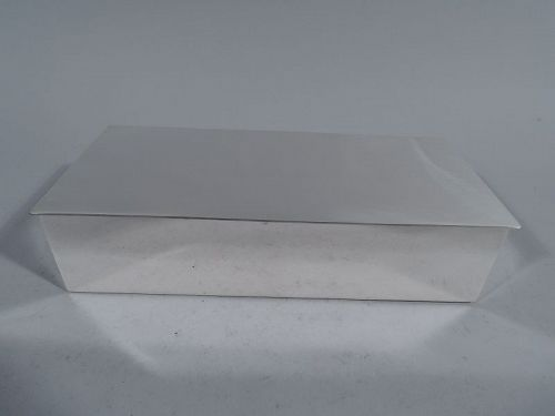Tiffany Sterling Silver Modern Desk Box
