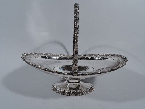 Antique Tiffany Sterling Silver Basket with Early Broadway Hallmark