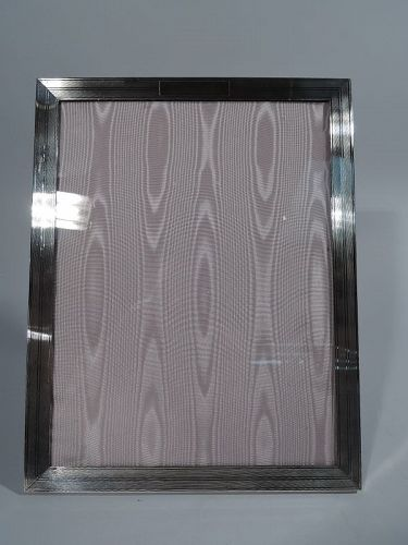 JE Caldwell Art Deco Sterling Silver Picture Frame