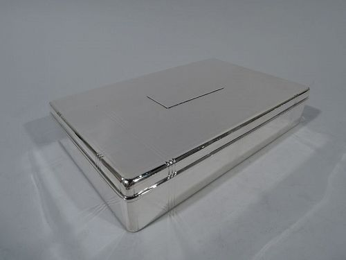 Tiffany Art Deco Sterling Silver Desk Box