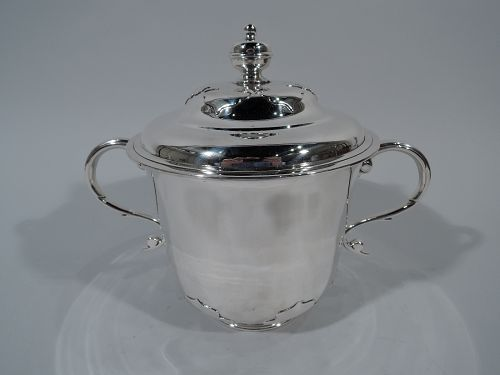Antique English Sterling Silver Covered Trophy Cup 1913