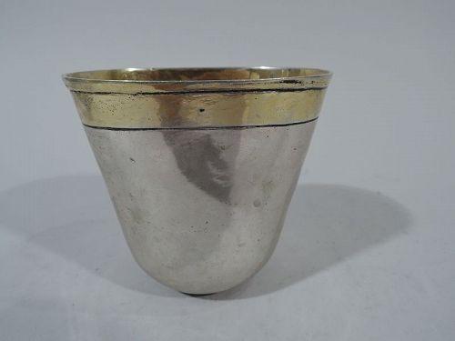Antique German Silver Beaker with Nuremberg Mark 18th C