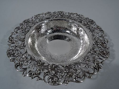 Fancy Antique American Sterling Silver Bowl