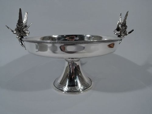 Rare Tiffany Japanese Audubon Sterling Silver Hummingbird Compote
