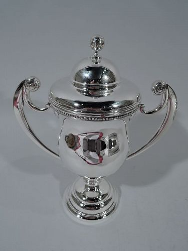 For the Golf Club - Sterling Silver Trophy Cup with Ball Finial