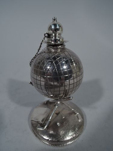 Classic Sterling Silver Golf Ball Cigar Lighter by Reed & Barton