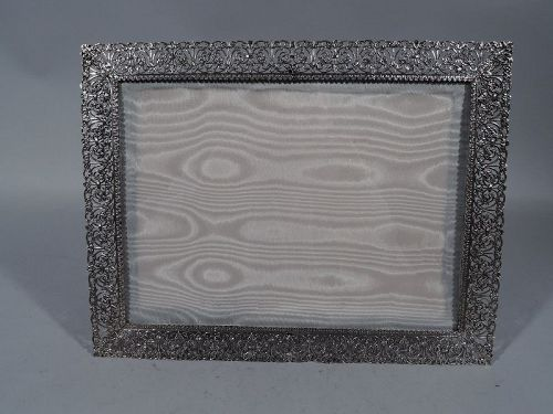 Italian Hand Made Sterling Silver Filigree Picture Frame