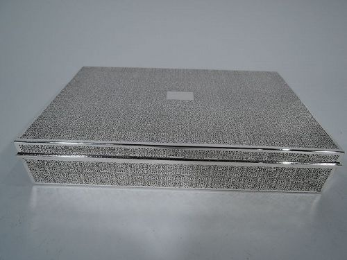 Tiffany Sterling Silver Desk Box with Fine Ornament C 1945