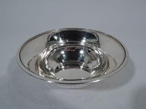 Prewar Georg Jensen Hand-Hammered Sterling Silver Bowl